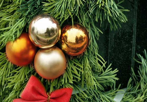Nice decoration with Xmas balls