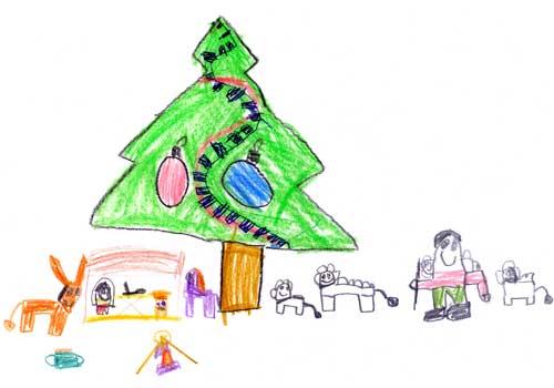 Bonitos Dibujos De Navidad Para Colorear Faciles.Dibujos De Navidad